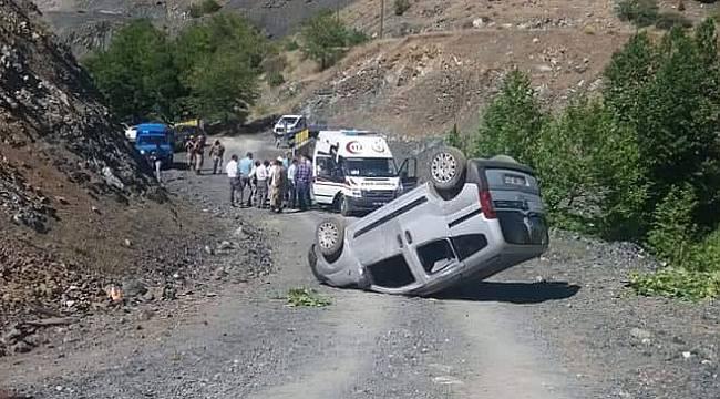 Malatya Pütürge İlçesinde Kaza 1 Ölü 4 Yaralı