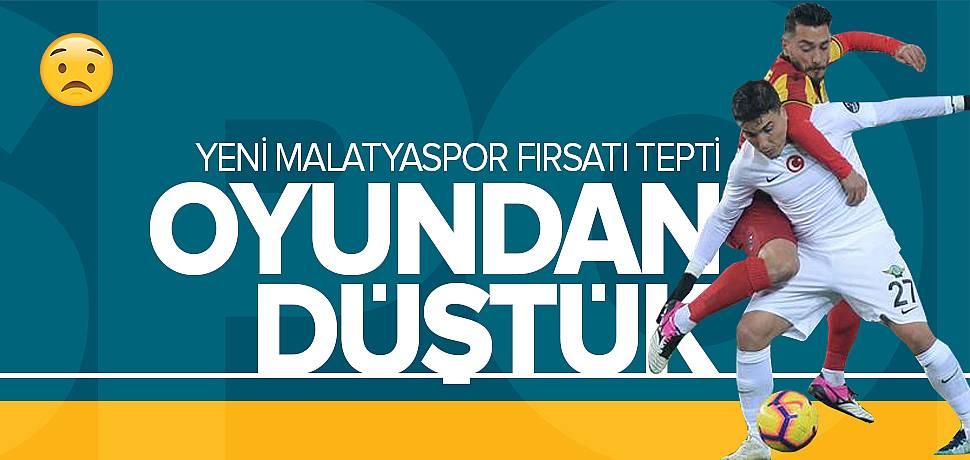 Yeni Malatyaspor Elindeki Fırsatı Tepti