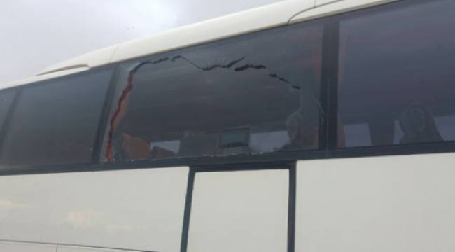 Yeni Malatyaspor'u Taşıyan Otobüse Taşlı Saldırı