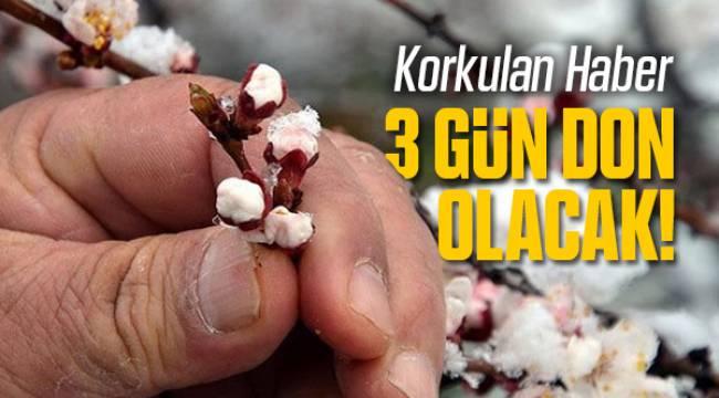 Malatya'da 3 Günlük Don Tehlikesi Başladı