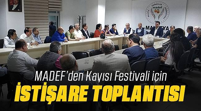 MADEF Kayısı Festivali İçin Toplantı Düzenledi
