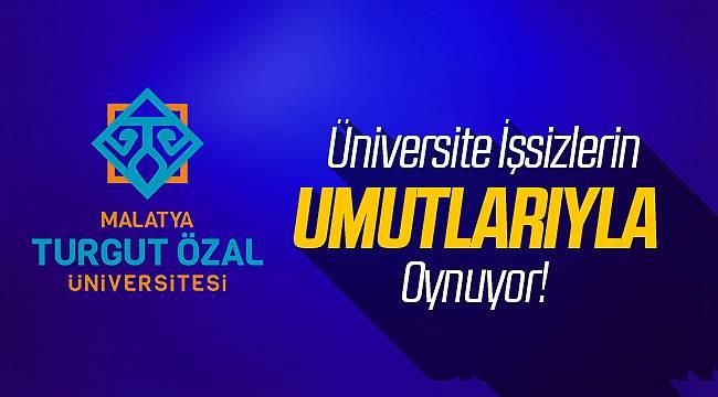 Turgut Özal Üniversitesi Personel Alımı İlanında Şaibe