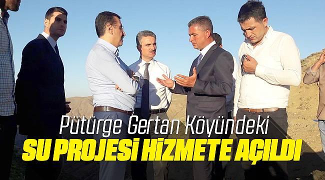 Pütürge Gertan'da Su Projesi Hizmete Açıldı