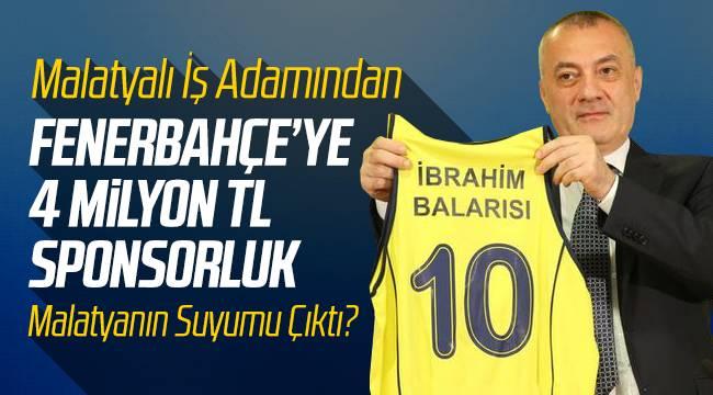 Malatyalı İbrahim Balarısı Fenerbahçe'ye Sponsor Oldu