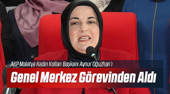 AKP Malatya Kadın Kolları Başkanı Görevden Alındı