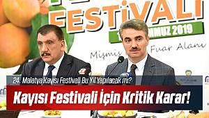 Malatya Kayısı Festivali İçin Kritik Karar!