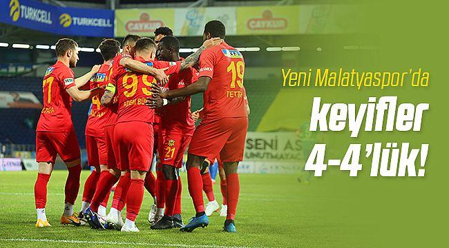 Yeni Malatyaspor'da Dört Dörtlük Sevinç!